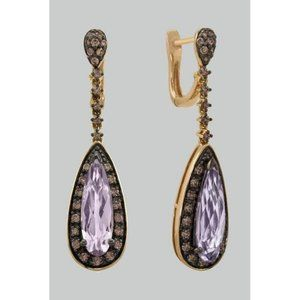 31.50 Ct Kunzite With Diamonds Women Dangle Earrin